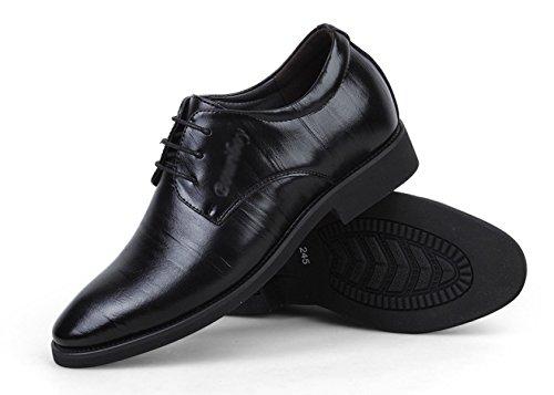 Hommes Sports Derby Chaussures Automne Hiver Haut De Gamme Beau Respirant Chaud Chaussures Richelieu En Cuir Chaussures Black