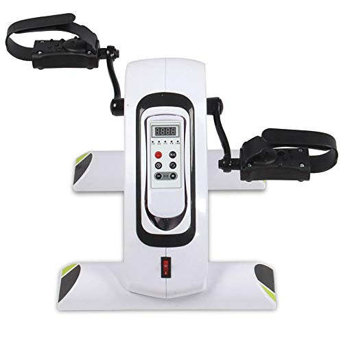 Stepper esercitatore per pedali portatile con monitor lcd, per braccio di gamba e recupero per il ginocchio esercizio per disabili e anziani, mini cyclette per sotto la scrivania