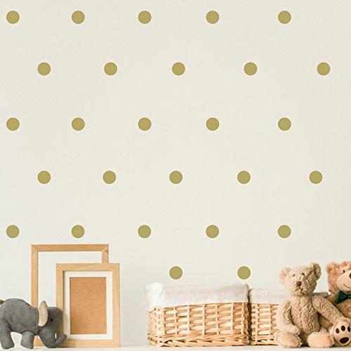 Booizzi - Juego de 120adhesivos murales de lunares, vinilo, 24 colores disponibles, dorado