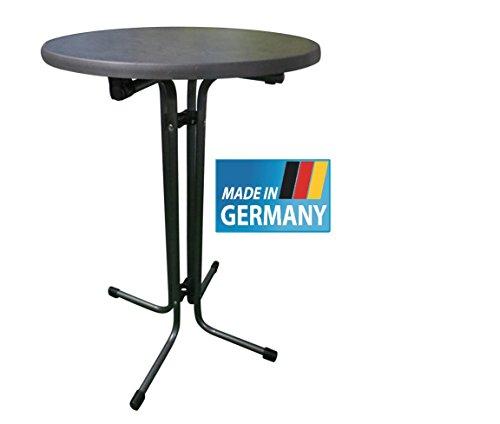 MFG Stehtisch klappbar, MADE IN GERMANY, 70 cm rund, Höhe 110 cm, anthrazit farbenes Gestell,...