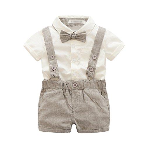 Strampler für Jungen Coole Kurze Tops T-Shirt Kleinkind Rompers Body Kleidung Gentleman Anzug Als Bild1 70 (Minion Anzug Kind)