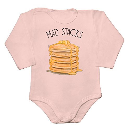 Finest Prints Mad Stacks American Pancakes Baby Long Sleeve Romper Bodysuit Babyspielanzug Extra Small -