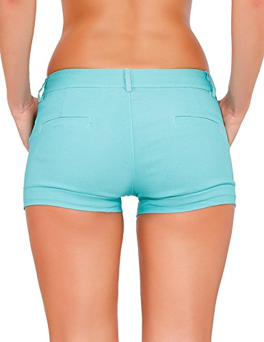 24brands - Shorts carreaux - Femmes Menthe