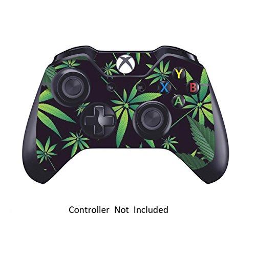 Skins Aufkleber für Xbox One Spiele Controller-Custom Ursprüngliche Xbox 1Fernbedienung Controller Wireless Schutzhülle Vinyl Aufkleber Bezüge-Leder Textur Displayschutzfolie Zubehör Weeds Black (Xbox One Mit Spiele-bundle)