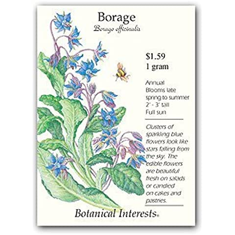 Borage Herb Seeds - 1 gram - Annual by Hirts: Seed; Herb