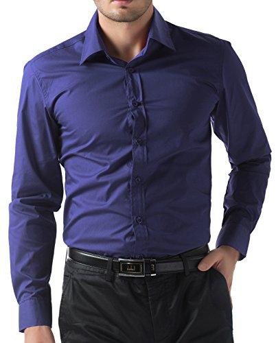 Fashion Hemd Einfarbig Hemd Langärme Super Modern Herren Hemd L CL5252-10