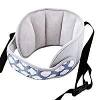 Guoyy Universal Car Seat Headrest Sleep Baby Supplies for Children Fixed Chair Strap Cushion Protector Adjustable Headrest Portable Protection