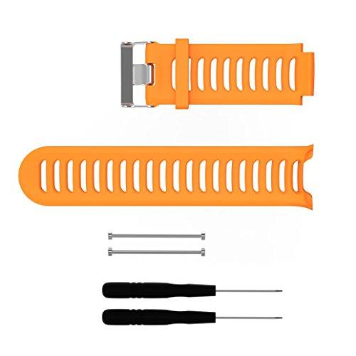 Kompatibel für Garmin Forerunner 910XT Armband,Kaiki Sport Silikon Ersatzband Armband für Garmin Forerunner 910XT (Orange)