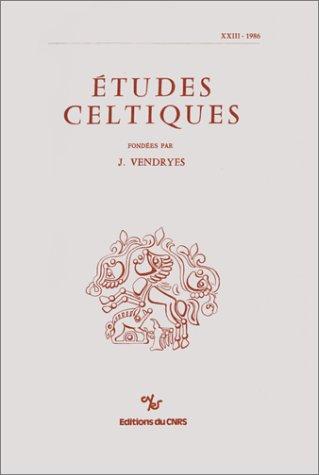 Études celtiques, numéro 23-1986