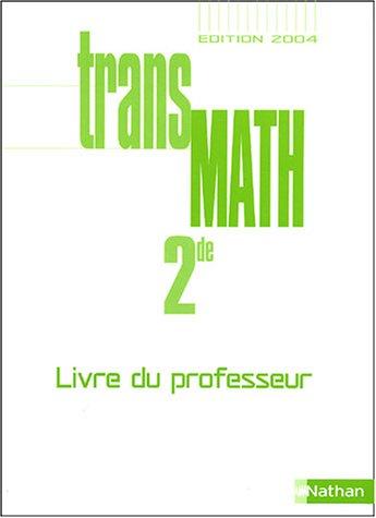 TransMath 2e : Livre du professeur