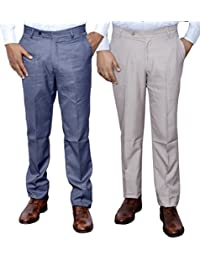 Indistar Combo Offer Mens Formal Trouser (Pack Of 2) - B01JRW60IW