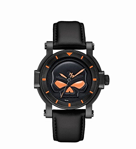 Harley Davidson - 78A114 - Montre Homme - Quartz Analogique - Bracelet Cuir Noir
