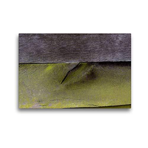 Scheune Metall (Calvendo Premium Textil-Leinwand 45 cm x 30 cm quer, Holzaußenwand Einer Scheune   Wandbild, Bild auf Keilrahmen, Fertigbild auf echter Leinwand, Leinwanddruck Kunst Kunst)