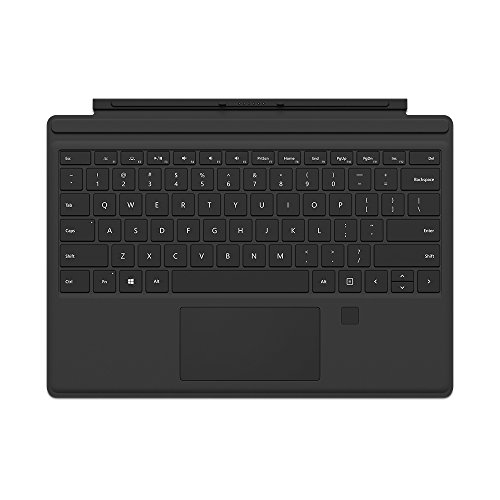 Microsoft Surface Pro Type Cover mit Fingerprint ID (Kompatibel mit Surface Pro 6/Pro/Pro 4/Pro 3, LED-Hintergrundbeleuchtung,Qwertz Tastatur) schwarz (Microsoft Beleuchtete Tastatur)