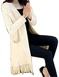 LQABW Automne Glands Poches Cardigans Vestes Femme Sundries