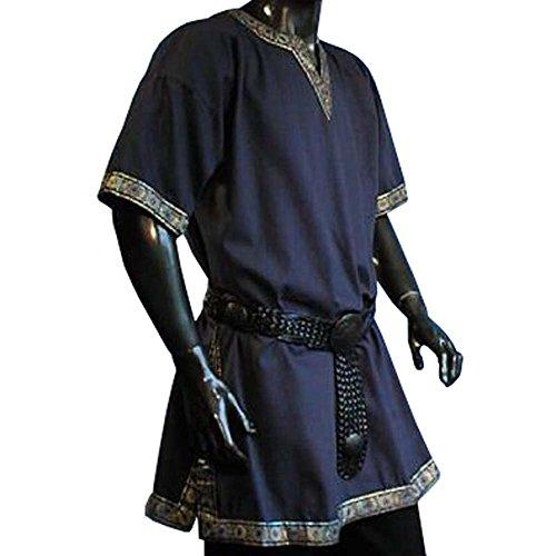 Tunika mit kurzem Arm, blau, Größe XL (Kostüme Männer Armee)
