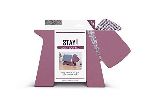 IF Stay! Doggy Book Rest - Purple Herringbone
