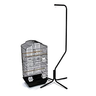 Easipet Large Metal Bird Cage with Stand Suitable For Multiple Birds (Black) 9