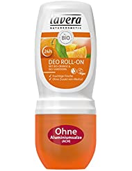 lavera Deo Roll On 24h Bio Orange ∙ Deodorant ohne Aluminium ∙ vegan ✔ Bio Pflanzenwirkstoffe ✔ Naturkosmetik ✔ Natural & innovative ✔ Körperpflege 1er Pack (1 x 50 ml)