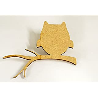 20 pack 20mm 'Owl On A Branch' Craft Shape, Craft Embellishments, Made from Medite Premier MDF