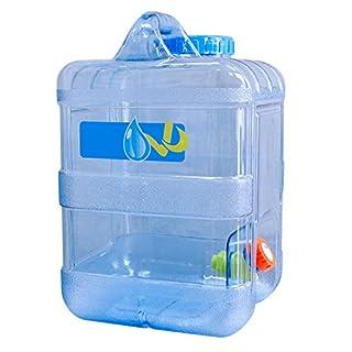 PROKTH Trinkwasser Wasserkanister mit Fest montiertem Ablasshahn Wasserablauf, Lecksicher, 15 Liter Kanister Wasserflasche