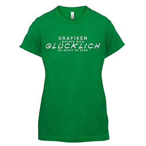 Grafiken machen mich glücklich - Damen T-Shirt - 14 Farben Grün