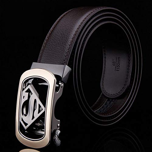 CCGAYD Männlich Echtes Leder Designer Gürtel Männer Hohe Qualität Männer Gürtel Automatische Schnalle Gürtel Für Männer Cinturones Hombre