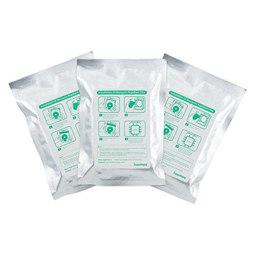 HOOMEE Recambio Chip del Repelente de Mosquitos Portátil Aromas de Aceites Esenciales Naturales, Sin Productos Químicos Ni Tóxicos