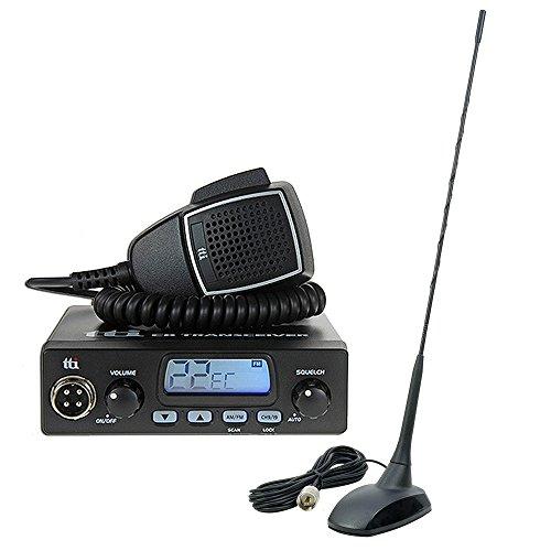 CB-Kit CB-Funk TTi TCB-550 N ASQ 4W 12V + CB-Antenne PNI Extra 48 SWR 1.0 Reichweite bis zu 10 km