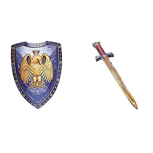 Liontouch BestSaller 162199 Premium Golden Eagle Ritterschild & Ritterschwert Adler, Mehrfarbig, 2-teilig (1 Set)