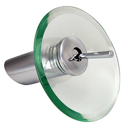 Paneltech Schwarzer Freitag Glas Wasserhahn,Einhand Wasserhahn mit Wasserfall-Effekt Armatur für Badezimmer oder Küche Glas-Auslauf,Hell Grün