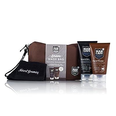 ManCave Shave Wash Bag,Set of 4