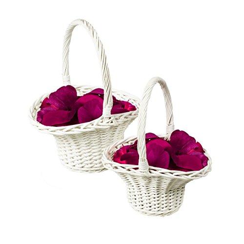 2er-Set Blumenstreukorb, Blumenstreukörbchen, Blumenkinder Korb