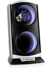 Klarstein St.Gallen Premium estuche para relojes (capacidad para 2 relojes, 3 programas de rotación, motor silencioso, iluminación LED azul) - negro