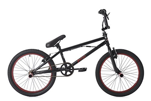 KS Cycling BMX Freestyle 20'' Yakuza Fahrrad, schwarz-Rot, 20