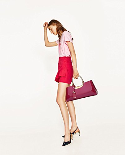 Sunas 2017 estate nuovo Moda Vernice lucida Femminile Borsa a mano retrò Casual Borsa messenger Portafoglio Rose