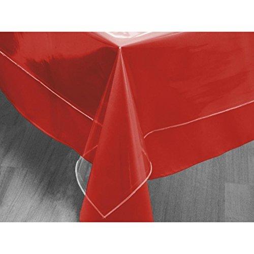 Tovaglia rettangolare trasparente 140 x 240 cm cristal