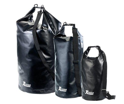 Xcase Wasserdichte Säcke: Urlauber-Set wasserdichte Packsäcke 16/25/70 Liter, schwarz (Schwimmender Seesäcke) (Urlauber)