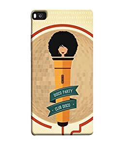 Fuson Designer Back Case Cover for Huawei P8 (think different loud speakers bass )