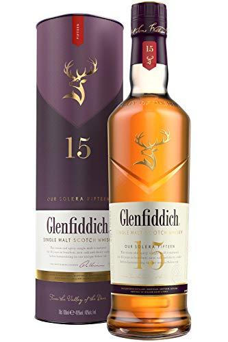 Glenfiddich Single Malt Scotch Whisky 15 Jahre Solera - der am häufigsten ausgezeichnete Single Malt Scotch Whisky der Welt, 1 x 0,7 l, 40% Vol.