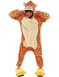 Padgene Pyjama Animaux Cosplay Halloween Deguisement Adulte Femme Homme Unisexe