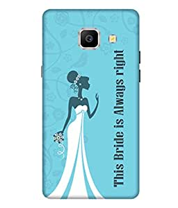 Print Opera Hard Plastic Designer Printed Phone Cover for Samsung Galaxy A9 Pro (2016) - This Bride is Always Right Bride Dress