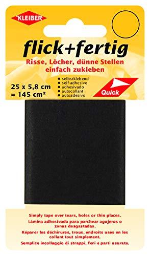 Kleiber 145 cm² Flick + Fertig Selbstklebendes Reparaturband aus Nylon, schwarz -