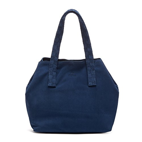 Fred de la Bretoniere Damen Umhängetasche, Blau (Cobalt Blue), 14 x 21 x 30 cm (Blue Handtaschen Cobalt)