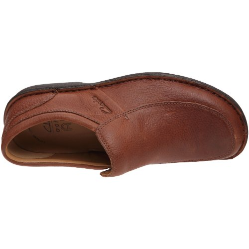 Clarks Sentry Slip 203 Herren Slipper Braun (Mahogany Leather)