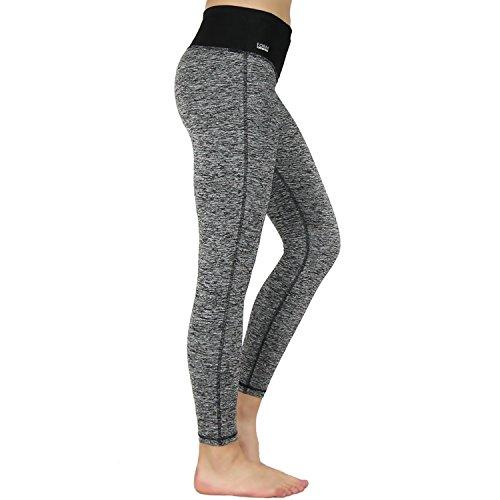 Formbelt® Damen Laufhose mit Tasche lang - leggins stretch-hose hüfttasche für Smartphone Iphone Handy Schlüssel (grau, S)