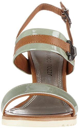 Marco Tozzi 28704, Sandales Bout Ouvert Femme Vert (Mint Comb 730)