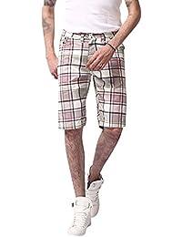Kasen Pantalones Cortos De Carga para Hombres Casuales Enrejado Suelto Shorts