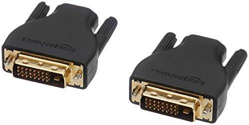 dvi zu scart AmazonBasics HDMI2DVI_A_2 HDMI-auf-DVI-D-Adapter, 2er-Pack, Schwarz