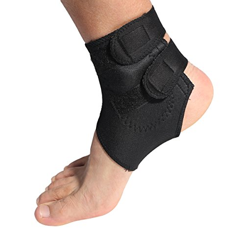 Magnetische Therapie thermische Selbsterwärmung Knöchelpolster Gürtel Knöchelbandage Unterstützung (schwarz) -
